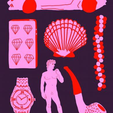 Luxus gestern und morgen Illustration: Stefan Mosebach für transform 5